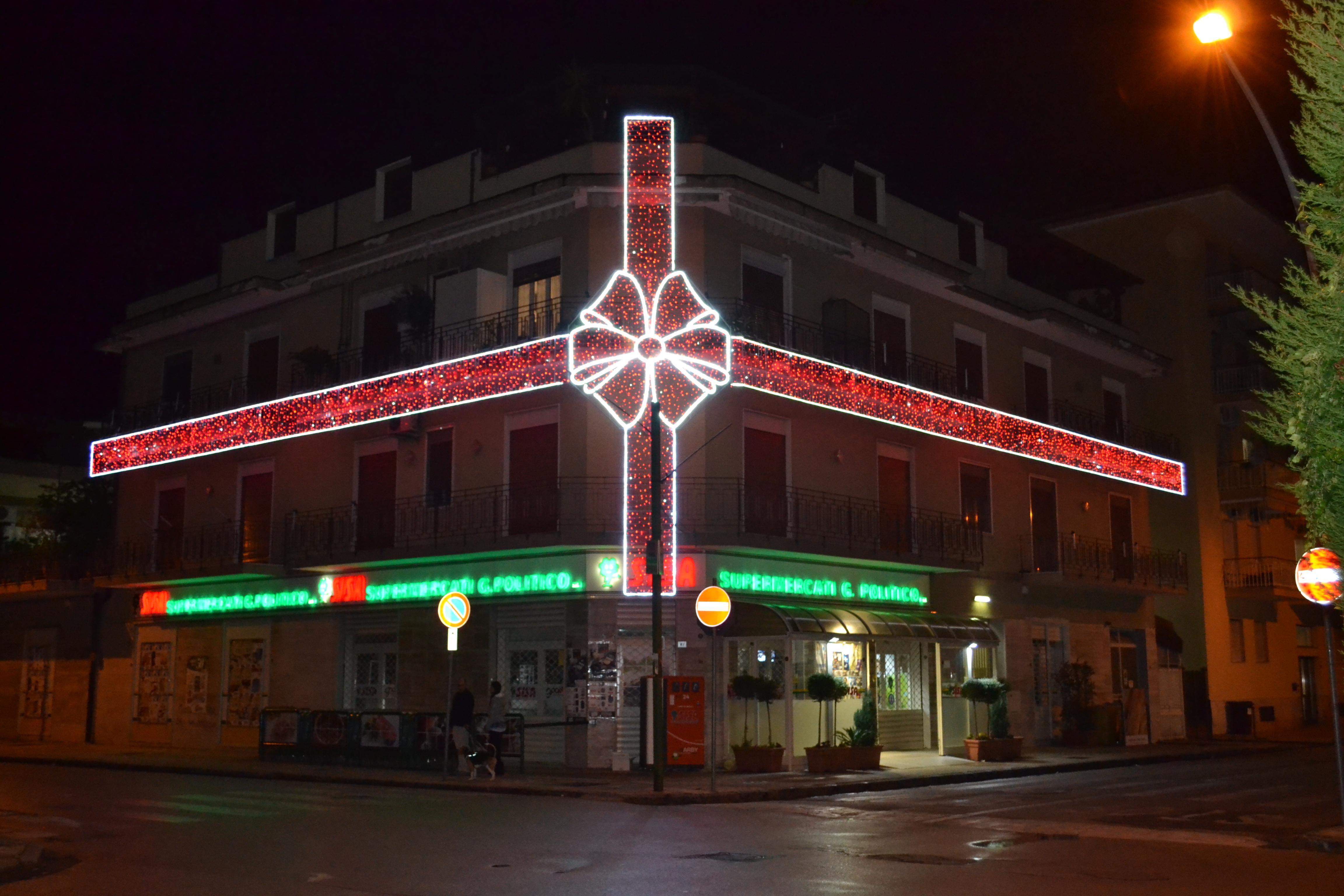 luminarie fiocchi verde