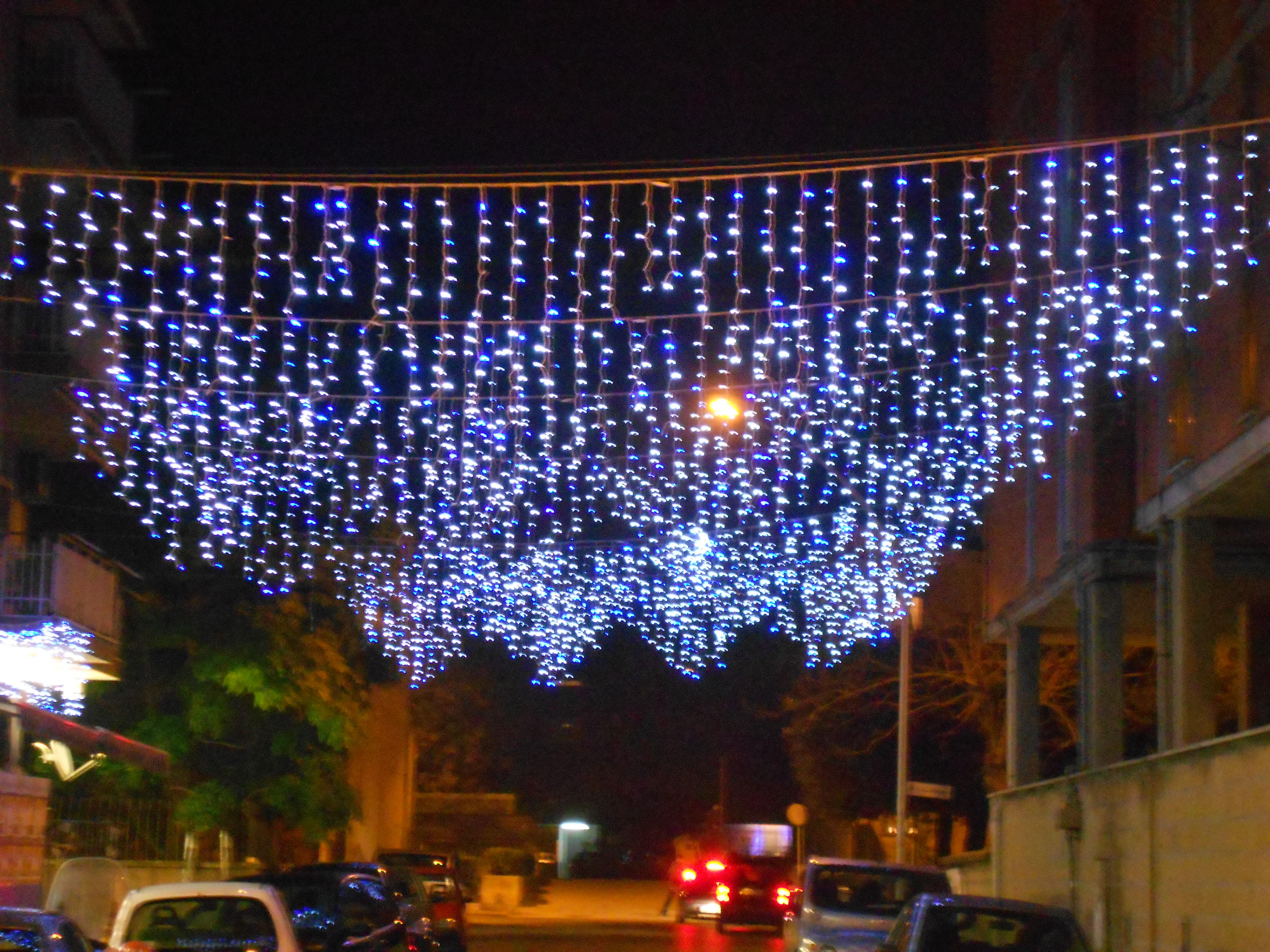 lampadario luminarie blu