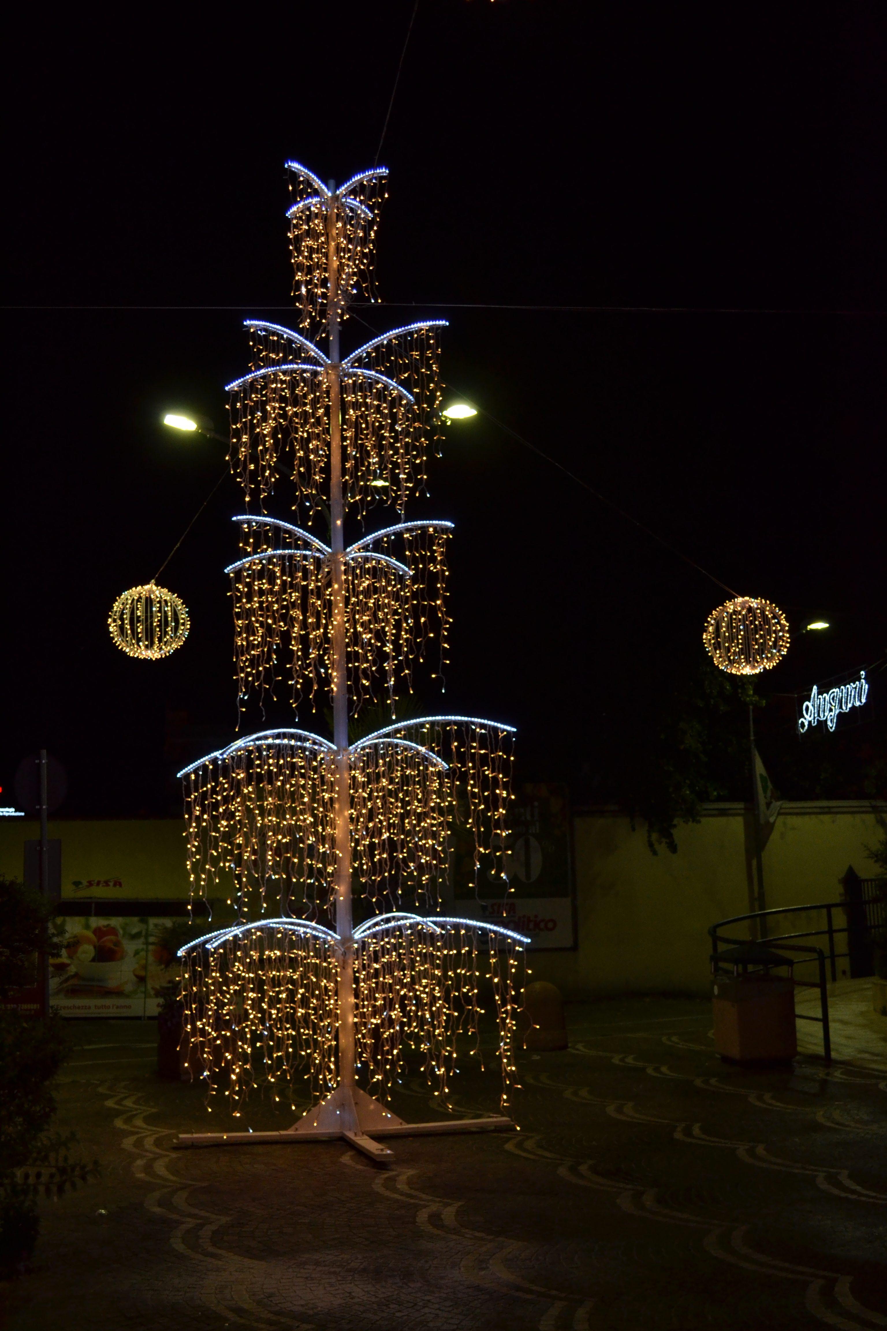 albero di natale led caserta salice