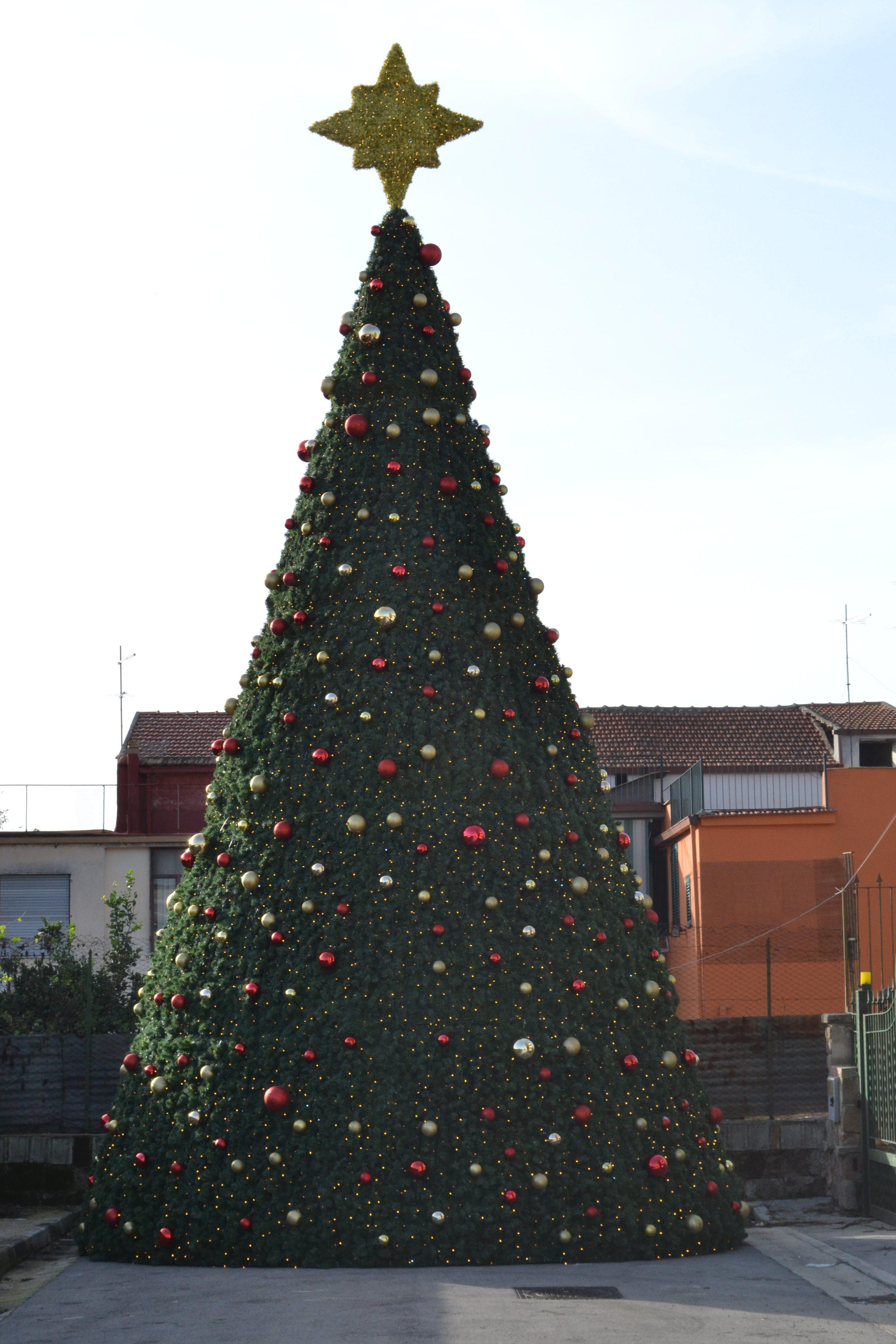 stella albero di natale led caserta