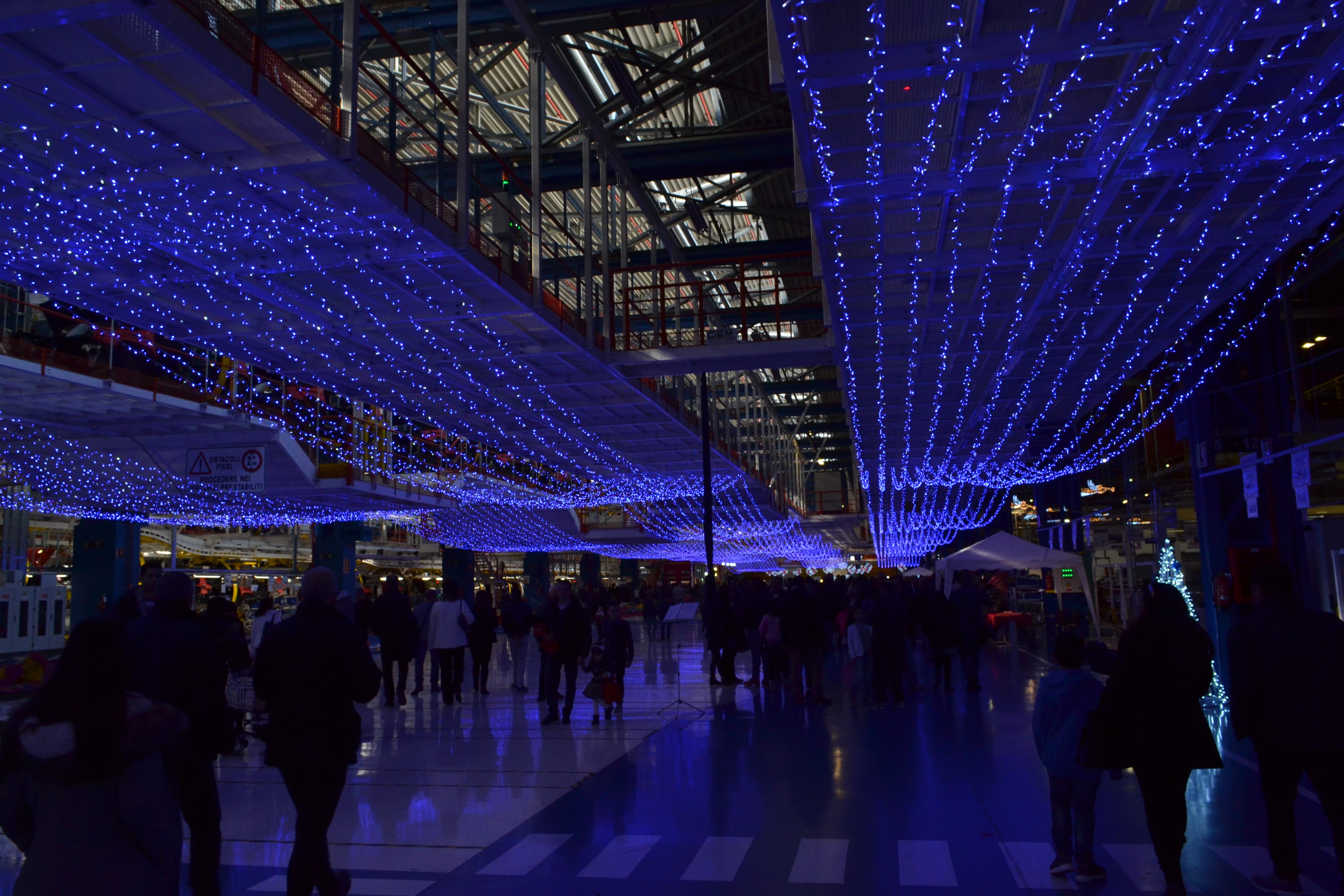 luci di natale blu