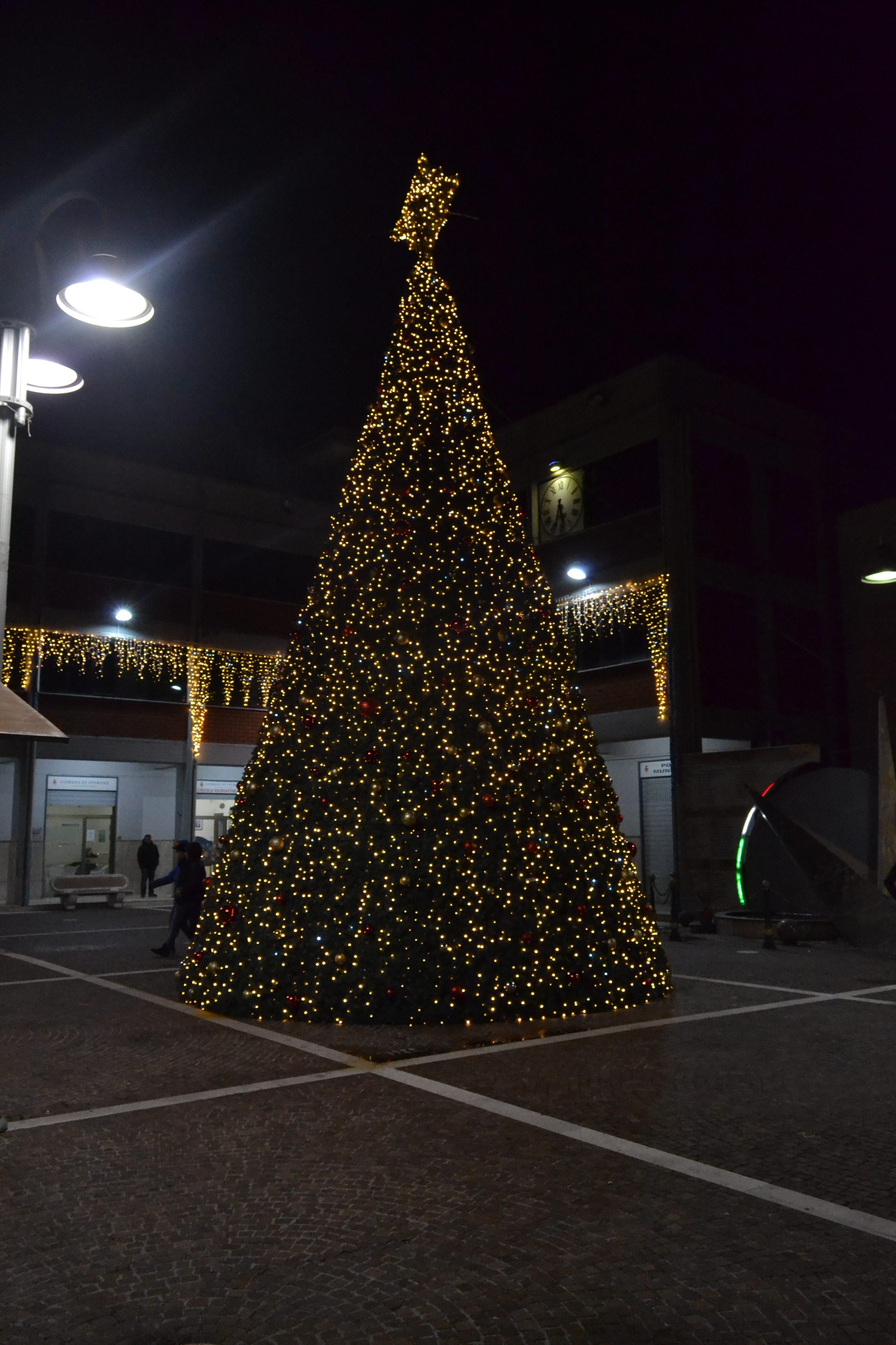 albero di natale led caserta stella