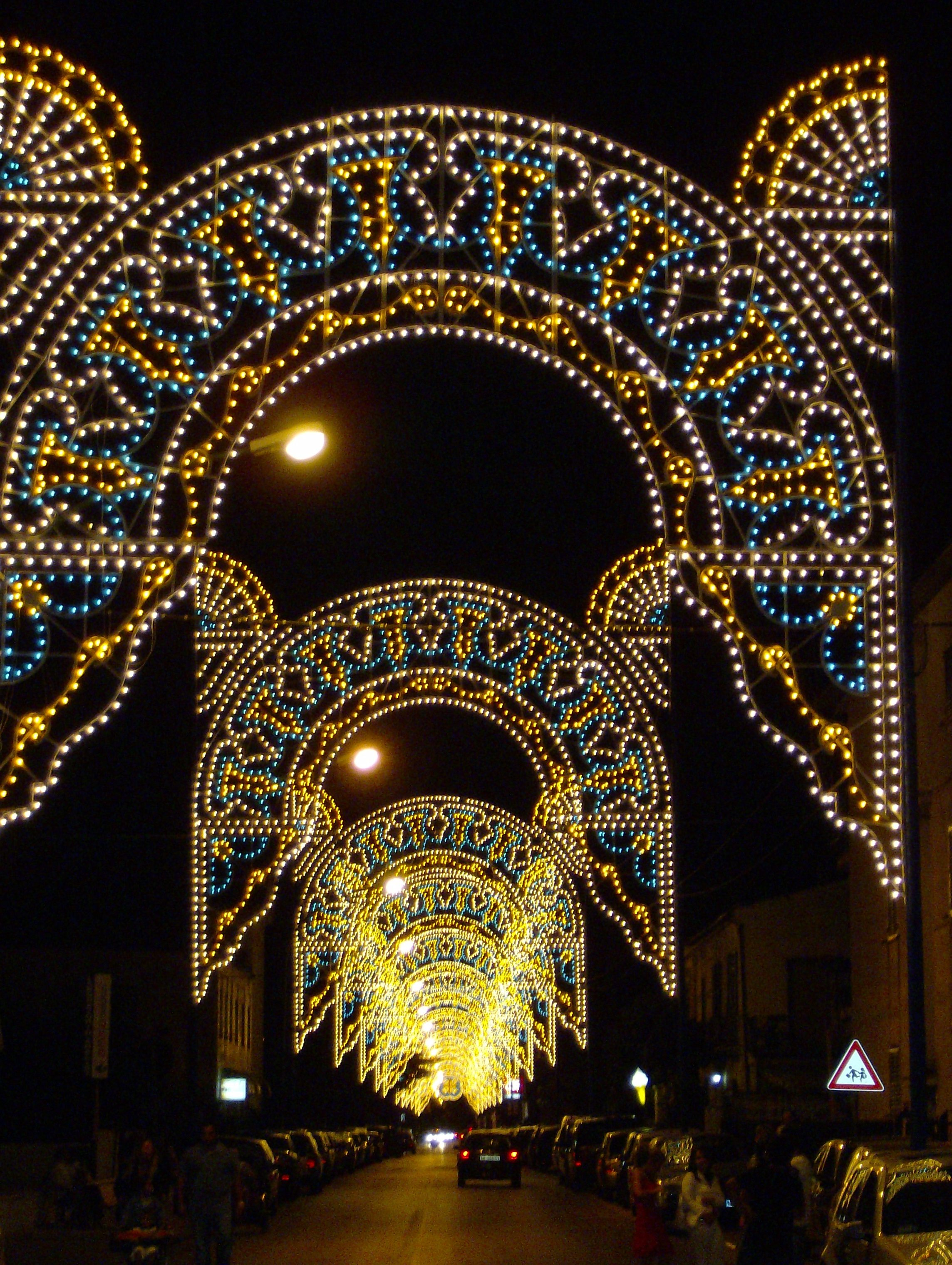 luminarie led napoli